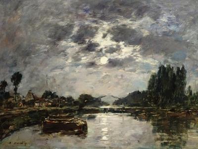 Moonlight, Canal De St. Valery, 1891