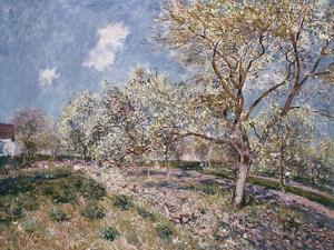 Springtime at Veneux, 1880 by Eugène Boudin