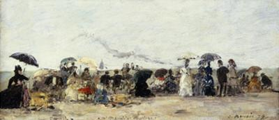 Trouville, Beach Scene; Trouville Scene De Plage, 1879