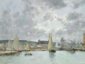 Trouville Harbour, 1880 by Eugène Boudin