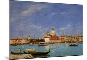 Venice/santa Maria Della Salute From... by Eugène Boudin