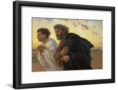 On the Morning of the Resurrection, the Disciples Peter and John on their Way to the Grave