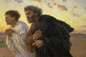 On the Morning of the Resurrection, the Disciples Peter and John on their Way to the Grave by Eugene Burnand
