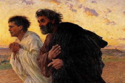 Peter and John Running at the Sepulchre on the Morning of the Resurrection by Eugene Burnand