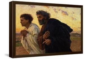 The Disciples Peter and John Running to Sepulchre on the Morning of the Resurrection, circa 1898 by Eugene Burnand