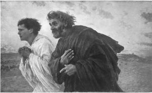 'The Disciples Peter and John Running to the Sepulchre on the Morning of the Resurrection', c1898 by Eugene Burnand