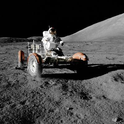 Eugene Cernan on Lunar Rover, Apollo 17--Photographic Print