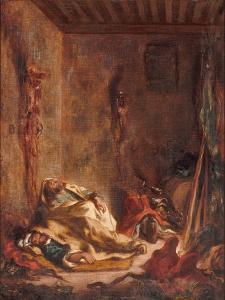 A Guardhouse in Meknès, 1847 by Eugene Delacroix