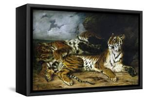 A Young Tiger Playing with Its Mother, 1830 by Eugene Delacroix
