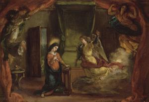 Annonciation by Eugene Delacroix