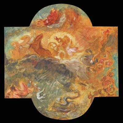 Apollo Slays Python, 1850 by Eugene Delacroix