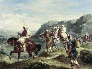Arabs Traveling by Eugene Delacroix