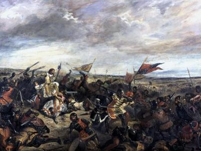 Battle of Poitiers, 1830 by Eugene Delacroix