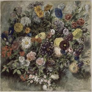 Bouquet de fleurs by Eugene Delacroix