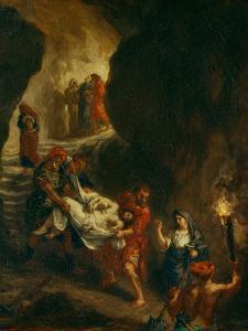 Christ Carried Down to the Tomb by Eugene Delacroix