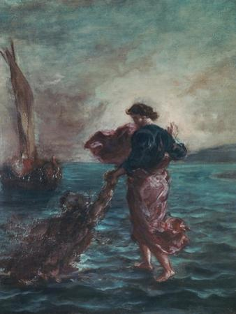 Christ Walking on Water and Reaching Out His Hand to Save Saint Peter