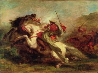 Collision of Moorish Horsemen, 1843-44