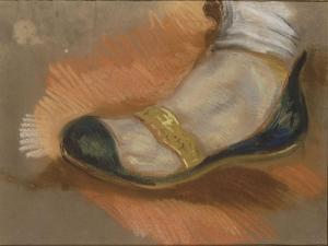 """Etude d'une babouche; étude pour """"La Mort de Sardanapale""""; 1827-1828 by Eugene Delacroix"""