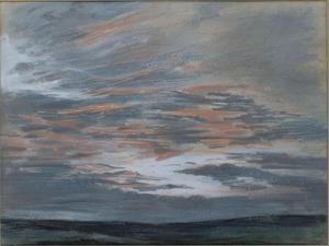 Etude de ciel au soleil couchant, juillet 1849 à Champrosay by Eugene Delacroix