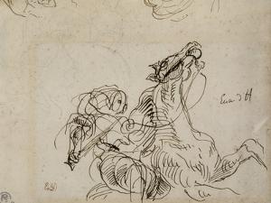 Etude pour Héliodore chassé du Temple by Eugene Delacroix