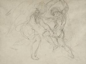 Etude pour la lutte de Jacob et de l'ange by Eugene Delacroix