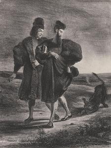 Faust, Méphistophélès et le barbet, 1827 by Eugene Delacroix