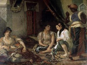 Femme D'Alger Dans Leur Appartement by Eugene Delacroix