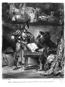 First Meeting Between Faust and Mephistopheles: `Why All This Noise?' by Eugene Delacroix