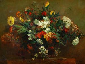 Flowers by Eugene Delacroix