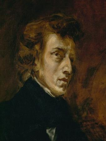 Frederic Chopin (1809-1849), Polish-French Composer by Eugene Delacroix