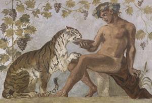 Fresque : Bacchus by Eugene Delacroix