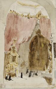 Intérieur d'une église à Cordoue by Eugene Delacroix
