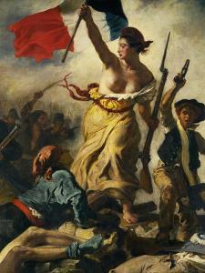 July 28th 1830, Liberty Guiding the People, Detail by Eugene Delacroix