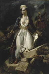 La Grèce sur les ruines de Missolonghi by Eugene Delacroix