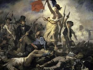 La Liberte Guidant Le Peuple by Eugene Delacroix