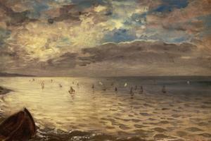 La Mer vue des hauteurs de Dieppe by Eugene Delacroix