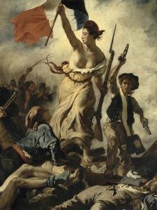 Le 28 juillet 1830 : la Liberté guidant le peuple by Eugene Delacroix