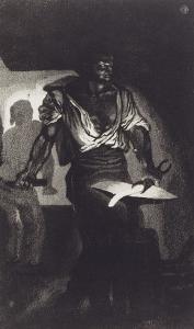 Le Forgeron, 4 ème état by Eugene Delacroix