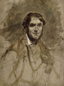 Léon Riesener (1800-1878), peintre, cousin de l'artiste by Eugene Delacroix
