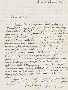 Lettre à Monsieur Albert, Paris 19 Avril 1849 by Eugene Delacroix