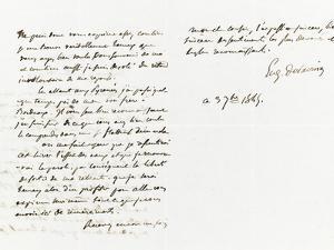 Lettre autographe signée Eugène Delacroix à P.A Berryer, 3 Septembre 1845 by Eugene Delacroix