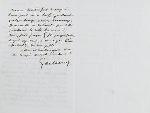 Lettre autographe signée Eugène Delacroix à P.A Berryer, le 11 Mai 1855 by Eugene Delacroix
