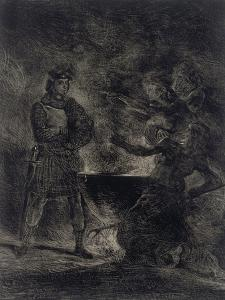 Macbeth Consulting the Witches from Shakespeare, 1825 by Eugene Delacroix