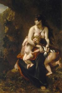 Medea (Médée Furieus) by Eugene Delacroix