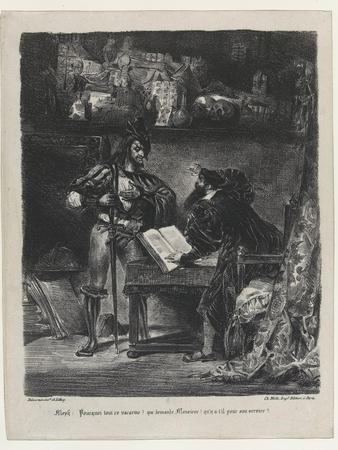 Méphistophélés apparaissant à Faust, 2ème état, 1827