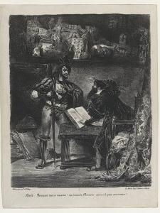 Méphistophélés apparaissant à Faust, 2ème état, 1827 by Eugene Delacroix