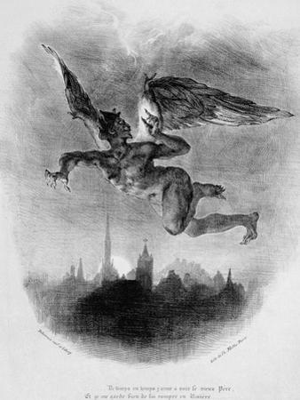 Mephistopheles' Prologue in the Sky, from Goethe's Faust, 1828 by Eugene Delacroix