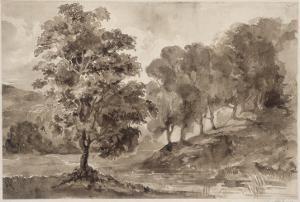 Paysage by Eugene Delacroix
