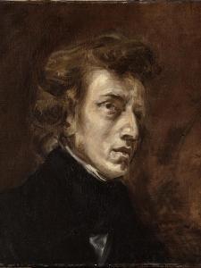 Portrait de Frédéric Chopin (1810-1849), musicien by Eugene Delacroix