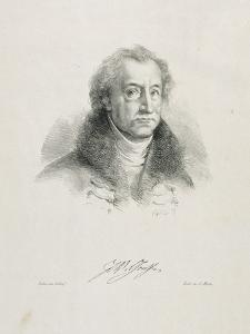 Portrait de Goethe en buste by Eugene Delacroix